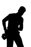 Saxophone player silhouette Royalty Free Stock Photos