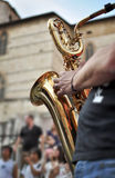 Saxophone player Royalty Free Stock Photos