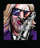 Saxophone player vector illustration