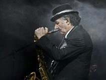 Saxophone Player at the Vienna Ball Royalty Free Stock Photos