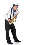 Saxophone player Stock Image