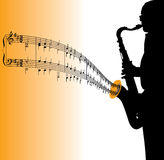 Saxophone Playing Music Stock Photo