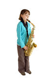 Saxophone Practice Royalty Free Stock Images