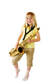 Saxophone Practice Royalty Free Stock Photos