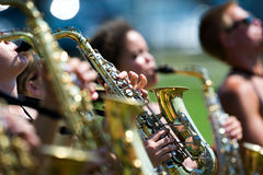 Saxophone practice Stock Images