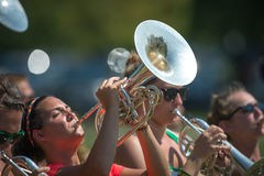Michigan State University band practice Royalty Free Stock Photo