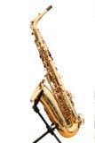 Saxophone on a rack Stock Photo