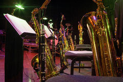 Saxophone section Royalty Free Stock Images