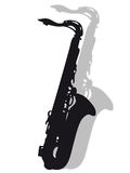 Saxophone in silhouette Stock Images