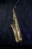Saxophone and stars Royalty Free Stock Photography