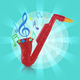 Saxophone toy Royalty Free Stock Images