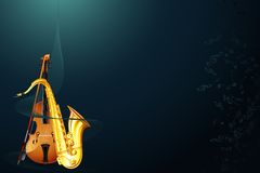 Saxophone and Violin Stock Photos