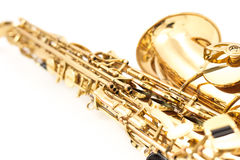 Saxophone. On the white background Stock Image