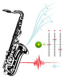 Saxophone on a white background. Stock Photography