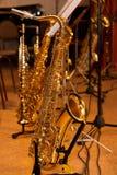 saxophones imagens de stock