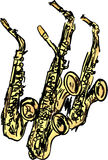 Saxophones Royalty Free Stock Photography