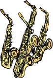Saxophones Royalty Free Stock Photography