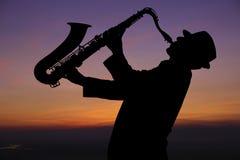 Saxophonist Lizenzfreie Stockfotografie