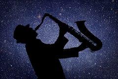 saxophonist Lizenzfreie Stockbilder