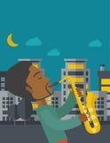 saxophonist illustration de vecteur