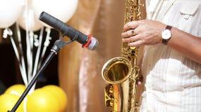 saxophonist Stock Afbeelding