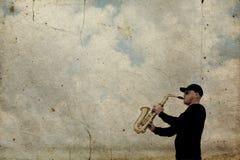 saxophonist fotografia stock