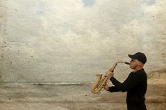 saxophonist immagini stock