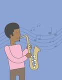 Saxophonist african man Stock Photo