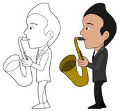 Saxophonist cartoon stock photography