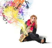 Saxophonist royalty free stock photos