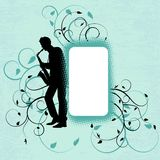 Saxophonist in grunge style. Vector illustration with saxophonist in grunge style Royalty Free Stock Photo