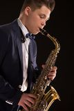 Saxophonist Royalty Free Stock Photography