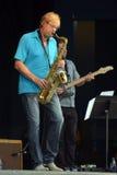 Saxophonist Walle Larsson Lizenzfreie Stockfotografie