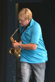 Saxophonist Walle Larsson Stockfotos