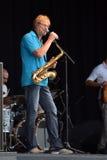 Saxophonist Walle Larsson Lizenzfreie Stockbilder