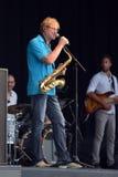 Saxophonist Walle Larsson Lizenzfreie Stockfotos