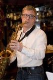 saxophoniste, cocktail de groupe de bruit de musicien, Alexander Mazurov Image libre de droits