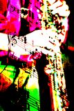 Saxophonmischung der musikalischen Anmerkungen Stockfotos