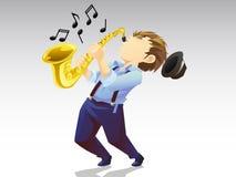 Saxophonmusiker Stockbild