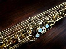 Saxophonnahaufnahme Stockfotografie