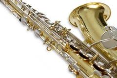 Saxophonnahaufnahme Lizenzfreies Stockfoto