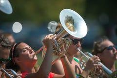 Saxophonpraxis Lizenzfreies Stockfoto