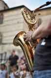 Saxophonspieler Lizenzfreie Stockfotos