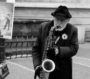 Saxophonspieler stockbild