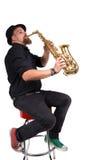 Saxophonspieler stockbilder