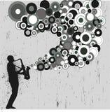 Saxophonspieler grunge Lizenzfreie Stockfotografie