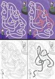 Saxophonspielerlabyrinth Stockbilder
