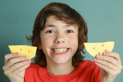 Say cheese smile preteen boy Stock Image