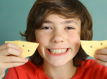 Say cheese smile preteen boy Stock Photography