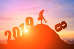 Say goodbye to 2018 year stock image